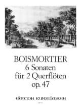 BOISMORTIER - 6 Sonaten op. 47 -2 Flöten - Partition - di-arezzo.fr