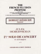 Jules Demersseman - 2nd Solo concert in mib maj. op 20 - Flute and piano - Sheet Music - di-arezzo.com