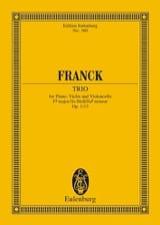 César Franck - Klavier-Trio Fis-Moll, Op. 1/1 - Partition - di-arezzo.fr