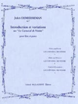 Jules Demersseman - Introduction et variations sur Le Carnaval de Venise op. 7 - Partition - di-arezzo.fr