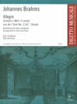 Allegro BRAHMS Partition Alto - laflutedepan.com