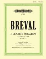 Jean-Baptiste Bréval - Drei Leichte Sonaten op. 40 No. 1-3 - Partitura - di-arezzo.es