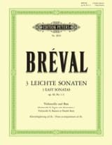 Jean-Baptiste Bréval - Drei Leichte Sonaten op. 40 Nr. 1-3 - Noten - di-arezzo.de