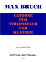 Max Bruch - Canzone - Cello - Sheet Music - di-arezzo.co.uk