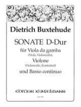 Sonate en Ré Majeur Dietrich Buxtehude Partition laflutedepan.com