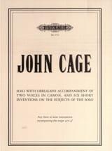John Cage - Solo with obbligato accompaniment ... - Sheet Music - di-arezzo.com