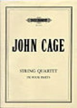 John Cage - String Quartet in four parts - Score - Partition - di-arezzo.fr