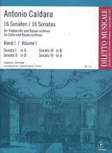 16 Sonates Volume 1 Antonio Caldara Partition laflutedepan.com