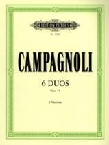 6 Duos op. 14 Bartolomeo Campagnoli Partition laflutedepan.com