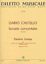 Dario Castello - Decima Sonata in a-moll (La Min.) - 2 Flûtes A Bec-B.C. - Partition - di-arezzo.fr