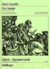 Due Sonate a Soprano solo Dario Castello Partition laflutedepan.com