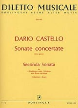 Dario Castello - Seconda Sonata (Sonate concertante, Libro 1) – 2 Blockflöten Bc - Partition - di-arezzo.fr