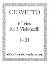 Giacomo Cervetto - 6 Trios für 3 Violoncelli, Bd.1 – 1-3 - Partition - di-arezzo.fr