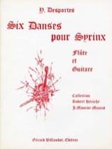 6 Danses Pour Syrinx Yvonne Desportes Partition laflutedepan.com