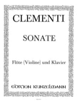 Muzio Clementi - Sonate G op. 2 n° 3 – Flöte (Violine) Klavier - Partition - di-arezzo.fr