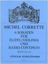 Michel Corrette - 6 Sonaten op. 13 - Heft 2 -Flöte (Violine) u. Bc - Partition - di-arezzo.fr