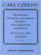 Introduction et Variations concertantes Carl Czerny laflutedepan.com