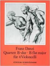 Quartett B-dur für 4 Violoncelli Franz Danzi laflutedepan.com