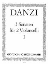 3 Sonaten op. 1 Bd. 1 Franz Danzi Partition laflutedepan.com