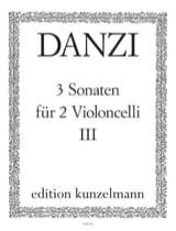 3 Sonaten op. 1, Bd. 3 Franz Danzi Partition laflutedepan.com