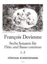François Devienne - 6 Flötensonaten - Nr. 1-3 - Flöte u. Bc - Sheet Music - di-arezzo.co.uk