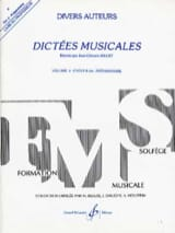 Jean-Clément Jollet - Musical Dictations Volume 2 - Prof - Sheet Music - di-arezzo.com