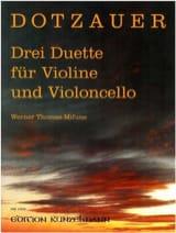 Drei Duette Friedrich Dotzauer Partition Duos - laflutedepan.com