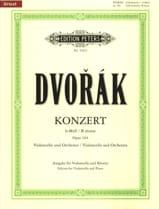 Antonin Dvorak - Concerto pour Violoncelle Si Mineur, Op.104 - Partition - di-arezzo.fr
