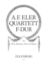 André-Frédéric Eler - Quartett F-Dur op. 6 n° 1 –Flöte Klarinette Horn Fagott - Partition - di-arezzo.fr