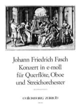Johann Friedrich Fasch - Konzert e-moll –Flöte Oboe Klavier - Partition - di-arezzo.fr