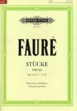 Stücke - Pièces Op.24, 69, 77, 78, 98 Gabriel Fauré laflutedepan.com