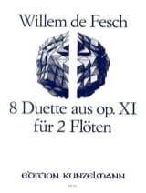 Willem de Fesch - 8 Duette aus op. 11 - 2 Flöten - Partition - di-arezzo.fr
