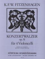 Konzertwalzer op. 31 Wilhelm K. F. Fitzenhagen Partition laflutedepan