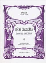 Pièces classiques - Volume 3 – Basson - laflutedepan.com