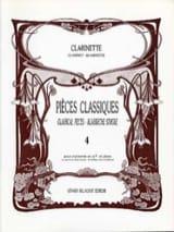 Pièces classiques - Clarinette - Volume 4 laflutedepan.com