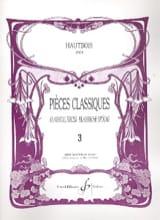 Pièces Classiques Volume 3 - Hautbois Partition laflutedepan.com