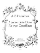 Anton Bernhard Fürstenau - 3 Concertante Duos - 2 Flöten - Partition - di-arezzo.fr