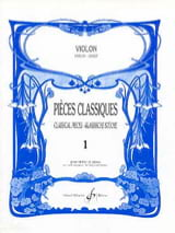 Pièces Classiques Volume 1 - Violon Patrice Sciortino laflutedepan.com