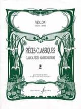 Pièces Classiques Volume 2 - Violon Partition laflutedepan.com
