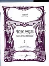 Pièces Classiques Volume 3 - Violon Patrice Sciortino laflutedepan.com