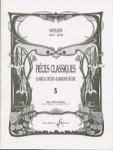 Pièces Classiques Volume 5 - Violon Patrice Sciortino laflutedepan.com