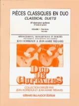 Horreaux Jean / Tréhard Jean-Marie - Pièces Classiques en Duo Volume 1 - Partition - di-arezzo.fr