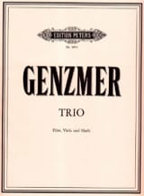 Trio Harald Genzmer Partition Trios - laflutedepan.com