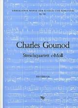 Charles Gounod - Quatuor à cordes en ut mineur –Stimmen - Partition - di-arezzo.fr