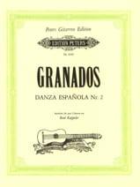 Danza Espanola N°2 GRANADOS Partition Guitare - laflutedepan