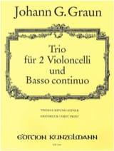 Trio Johann Gottlieb Graun Partition Trios - laflutedepan
