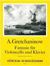 Alexandre Gretchaninov - Fantasie für Violoncello und Klavier - Partition - di-arezzo.fr