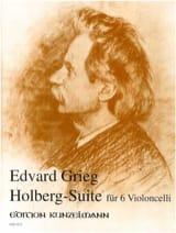 Edvard Grieg - Holberg-Suite –6 Violoncelli - Partition - di-arezzo.fr