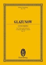Alexandre Glazounov - Violin-Konzert a-moll, op. 82 – Partitur - Partition - di-arezzo.fr