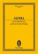 Michael Glinka - Kamarinskaja - Partition - di-arezzo.fr